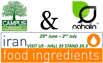 Campus@IRAN FOOD INGREDIENTS 2018 Hall 35 Stand 35.3 - SAVE THE DATE